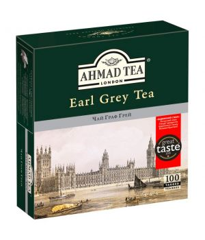 Чай черный пакетированный Ахмад Чай Граф Грей 100 х 2 г