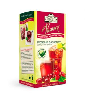 Чай фруктовый пакетированный Ахмад Шиповник и Вишня 20 х 2 г