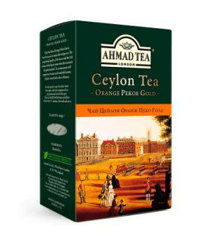Чай черный листовой Ахмад Цейлон Оранж Пеко Голд 100 г