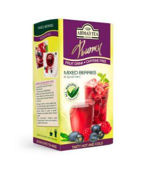Чай фруктовый пакетированный Ахмад Ягодный Микс 20 х 2 г