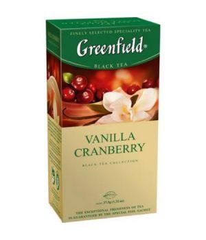 Чай травяной пакетированный Greenfield Ванила Кренберри 25 х 1.5 г