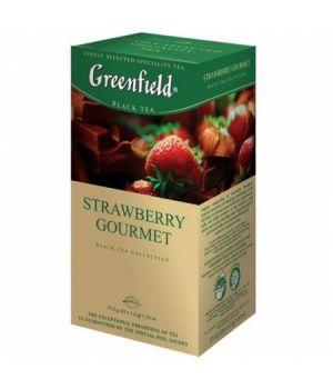 Чай фруктовый пакетированный Greenfield Строуберри Гурме 25 х 1.5 г
