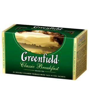 Чай черный пакетированный Greenfield Классик Брекфест 25 х 2 г