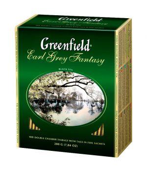 Чай черный пакетированный Greenfield Ерл Грей Фентези 100 х 2 г
