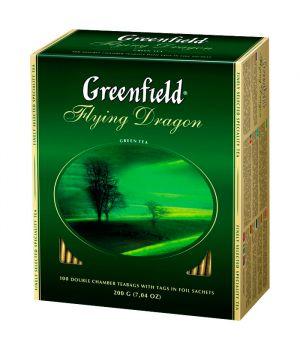 Чай зеленый пакетированный Greenfield Флаинг Драгон 100 х 2 г