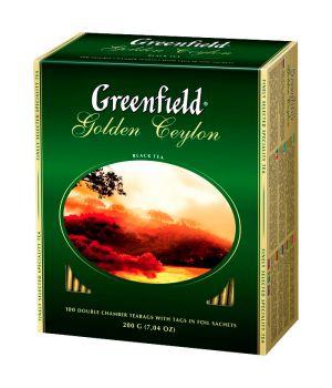 Чай черный пакетированный Greenfield Голден Цейлон 100 х 2 г