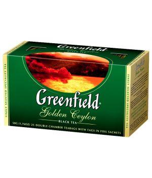 Чай черный пакетированный Greenfield Голден Цейлон 25 х 2 г