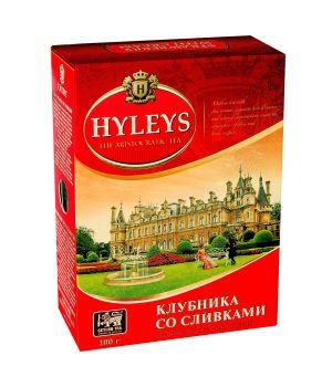 Чай черный листовой Hyleys Клубника со Сливками 100 г