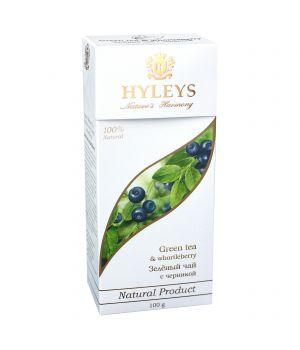 Чай зеленый пакетированный Hyleys с Черникой 25 х 1.5 г