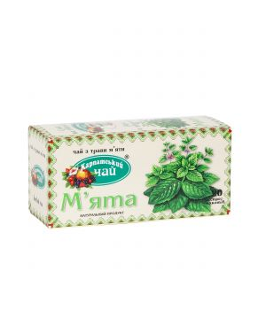 Чай травяной пакетированный Карпатский Мята 20 х 2 г
