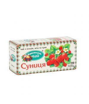 Чай фруктовый пакетированный Карпатский Клубника 20 х 2 г