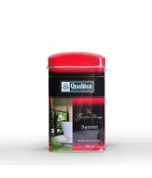 Чай черный Qualitea Цейлонский чай Sunset ж\б 100 г