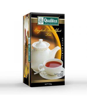 Чай черный пакетированный Qualitea Английский Завтрак 25 х 2 г