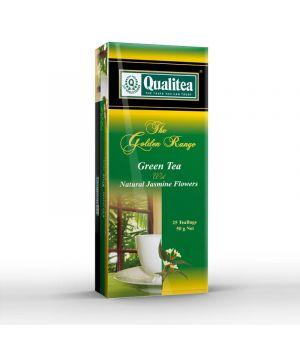 Чай зеленый пакетированный Qualitea с Жасмином 25 х 2 г