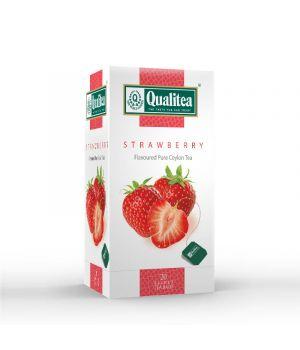 Чай фруктовый пакетированный Qualitea Клубника 20 х 2 г