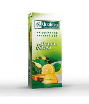 Чай зеленый пакетированный Qualitea Лимон и Мед 25 х 2 г