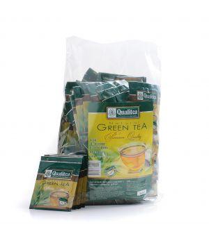 Чай зеленый пакетированный Qualitea Байховый Премиум 100 х 2 г