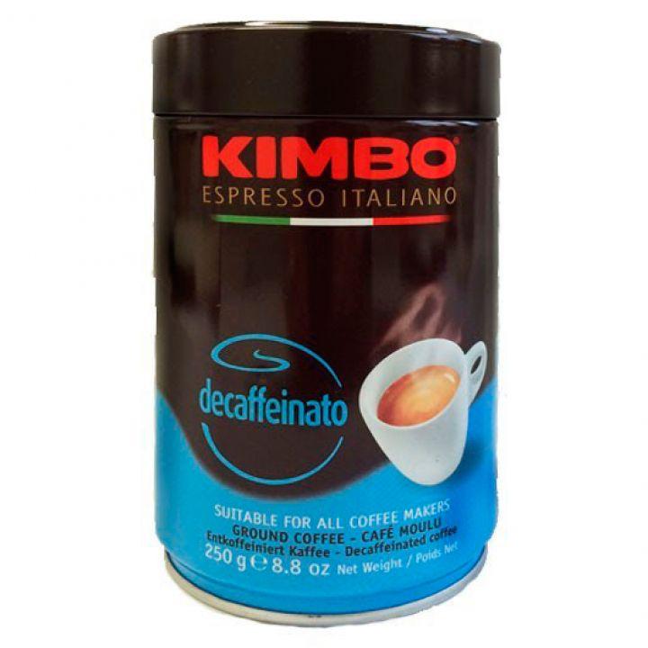 Кофе молотый Kimbo Decaffein ж\б 250 г