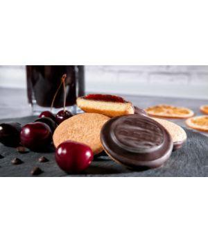 Печенье Делиция со вкусом вишни или апельсина 1000 г