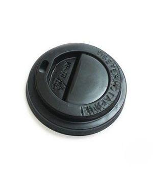 Крышка на стакан черная 50 шт