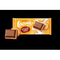 Шоколад Roshen Lacmi молочный с печеньем и молочной начинкой 115 г