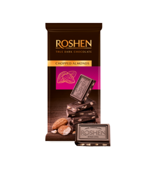 Шоколад Roshen Chopped almonds с подсоленным миндалем 90 г