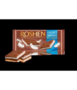 Шоколад Roshen молочный с кокосовой нугой