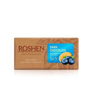 Шоколад Roshen Черный с черникой и печеньем 56% 90 г