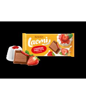 Шоколад Roshen Lacmi молочный с начинкой со вкусом клубничная панакота 90 г
