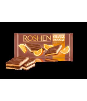 Шоколад Roshen молочный с апельсиновой нугой 90 г