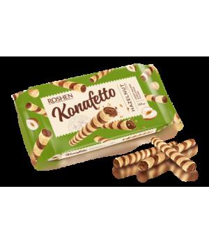 Вафельные трубочки Roshen Konafetto с ореховой начинкой 140г