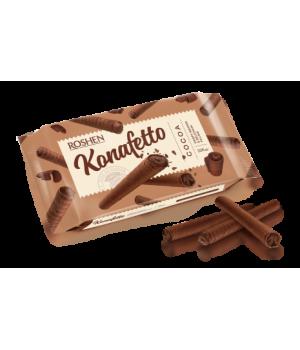 Вафельные трубочки Roshen Konafetto с начинкой крем-какао 140г