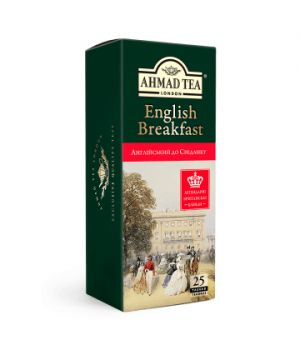 Чай черный пакетированный Ахмад Чай Английский к Завтраку 25 х 2 г