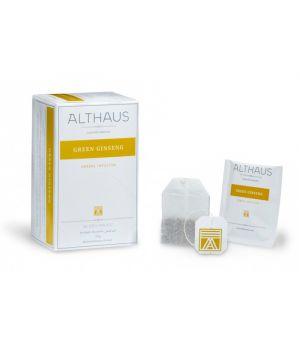 Чай зеленый пакетированный Althaus Зеленый Женьшень 20 х 1.75 г
