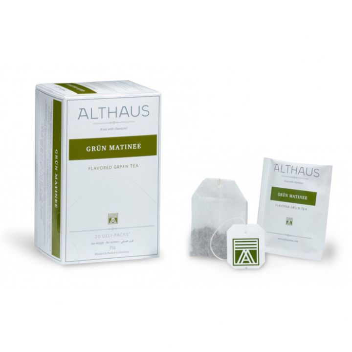 Чай зеленый пакетированный Althaus Грюн Матинэ 20 х 1.75 г