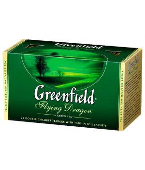 Чай зеленый пакетированный Greenfield Флаинг Драгон 25 х 2 г
