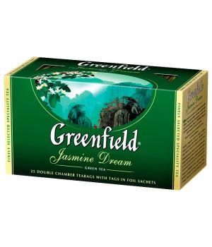 Чай зеленый пакетированный Greenfield Жасмин Дрим 25 х 2 г