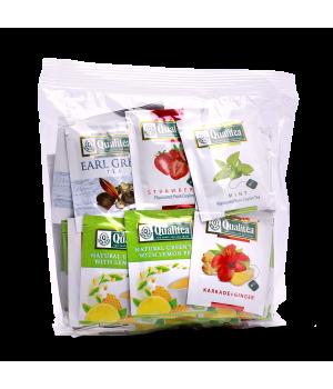 Чай фруктовый пакетированный Qualitea Фруктовое Ассорти 50 х 2 г