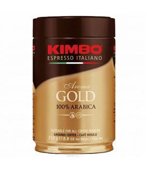 Кофе молотый Kimbo Espresso Aroma gold 100% Arabica ж\б 250 г