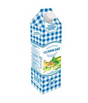 """Молоко Селянське 2,5% жира """"Особенное"""" 950 г"""