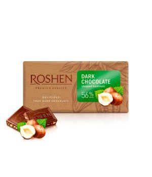 Шоколад Roshen Черный с измельченным лесным орехом 56% 90 г