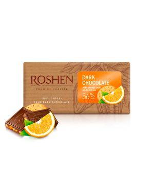 Шоколад Roshen Черный с апельсиновой цедрой 56% 90 г