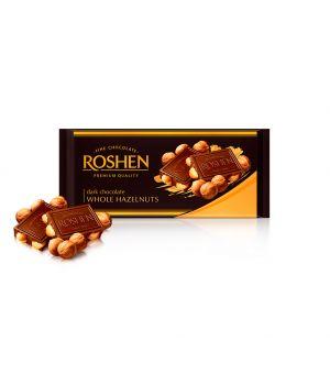 Шоколад Roshen Черный с целым лесным орехом 90 г
