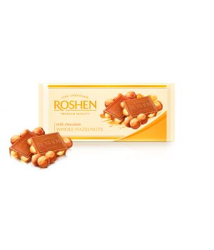 Шоколад Roshen Молочный с целым лесным орехом 90 г